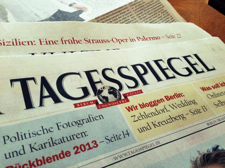 """Gleich Personal Training"" im Tagesspiegel"