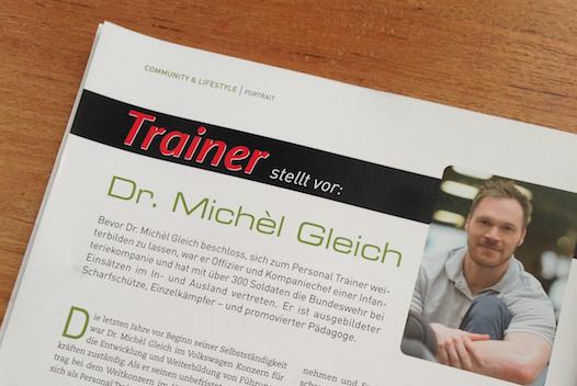 "Gleich Personal Training im Fachmagazin ""Trainer"""