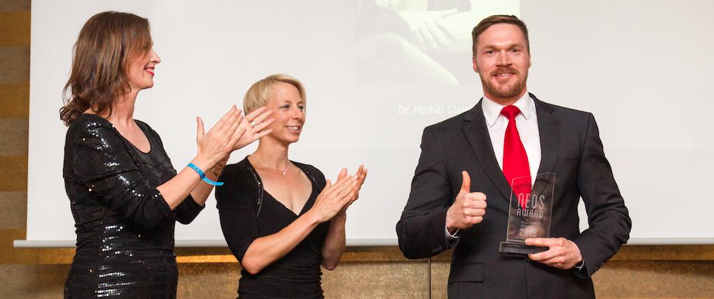 Dr. Michèl Gleich gewinnt den NEOS AWARD 2015 als bester Personal Trainer-Newcomer!