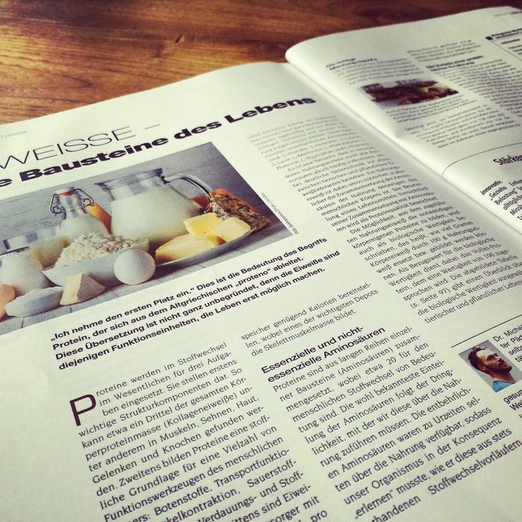 """Neuer Fachartikel im Magazin """"Trainer"""" und """"BodyLife"""" von Michèl zum Thema Eiweiß"""