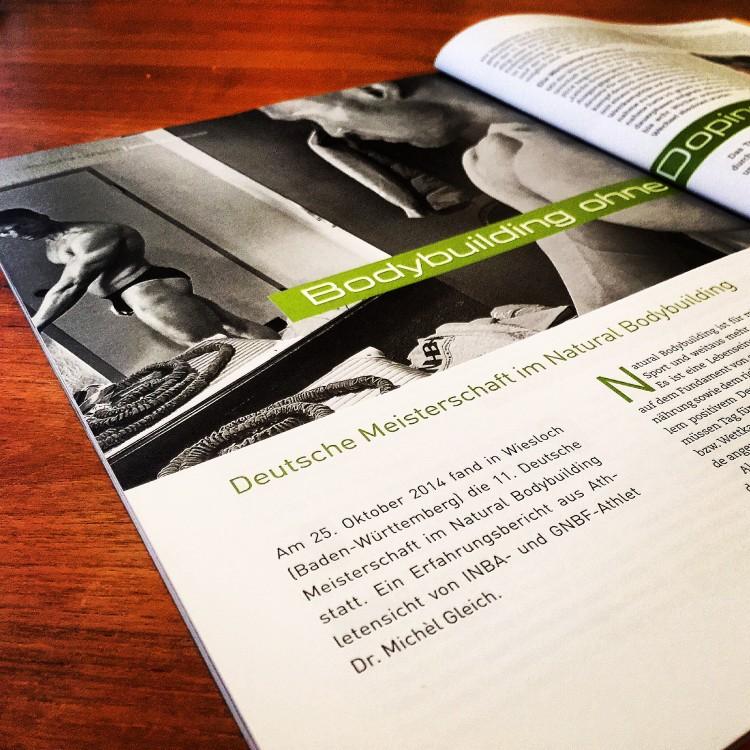 """Gleich Personal Training und Michèls neuer Artikel in der Zeitschrift """"Trainer"""" über dopingfreien Sport – Ein Erfahrungsbericht"""